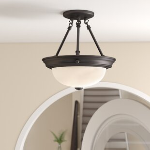 Dothan 2-Light Semi Flush Mount by Charlton Home
