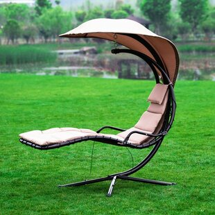 Ebern Designs Eurich Hanging Chaise Lounger with Stand