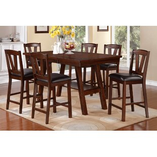 Youzi 7 Piece Counter Height Dining Set A&J Homes Studio
