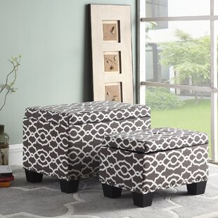 Rennick Trellis Storage Ottoman (Set of 2) by Alcott Hill