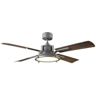 56 Nautilus 4 Blade Outdoor LED Ceiling Fan with Remote
