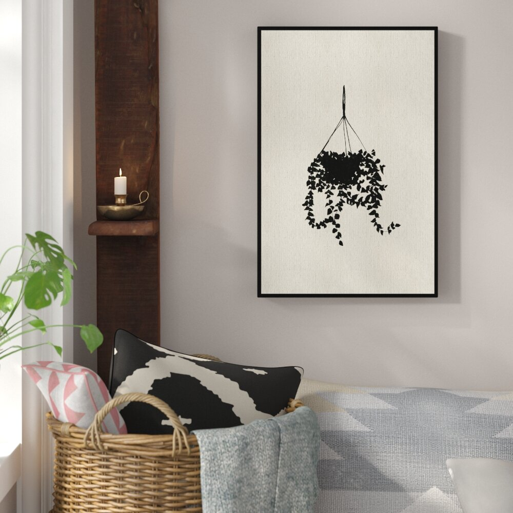 Sky Planter- Floater Frame Painting Print on Canvas