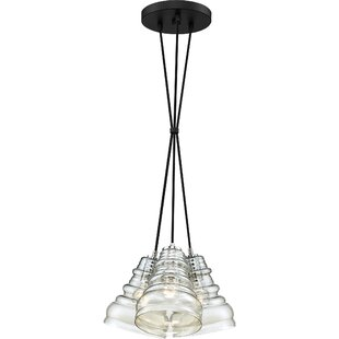 Wrought Studio Theriot 3-Light Cluster Pendant