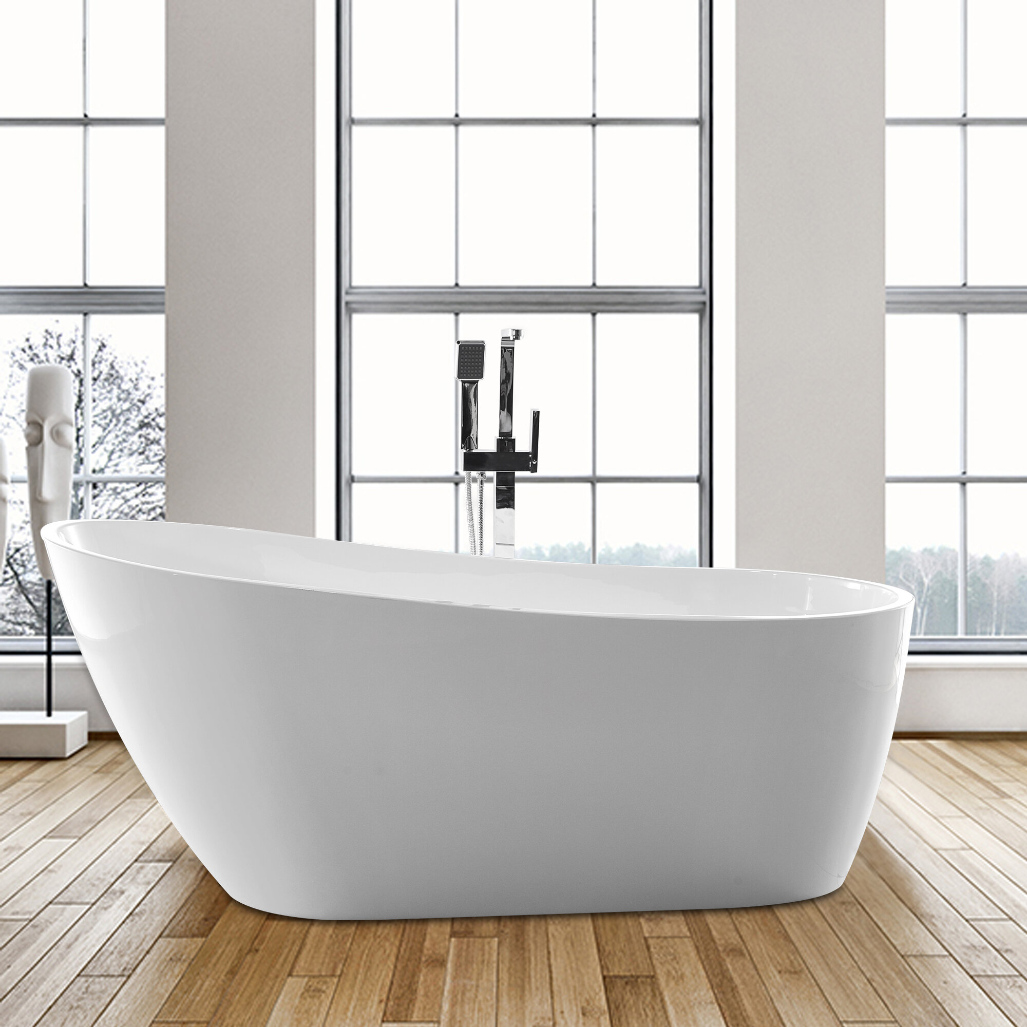 Vanity Art 55 X 28 Freestanding Soaking Bathtub Reviews Wayfair