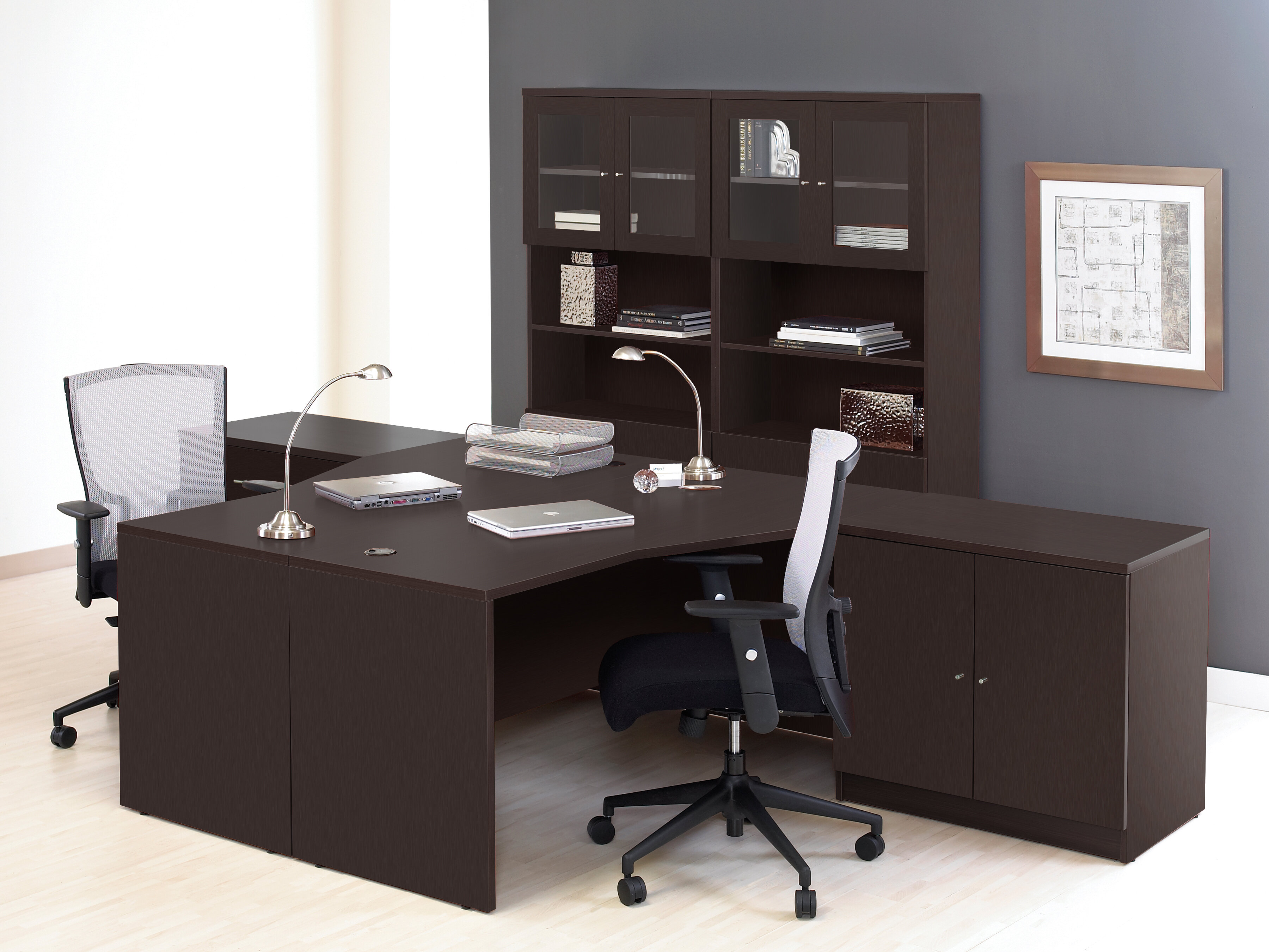 Haaken Furniture Pro X 6 Piece L Shaped Desk Office Suite | Wayfair