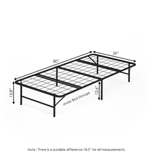 Hoglund Mattress Foundation Platform Metal Bed Frame