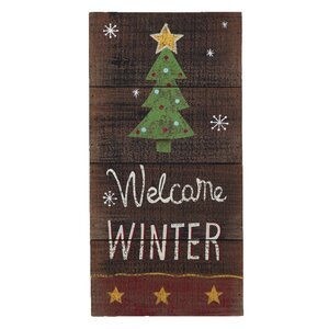 Merry Christmas Welcome Winter Wall Decor