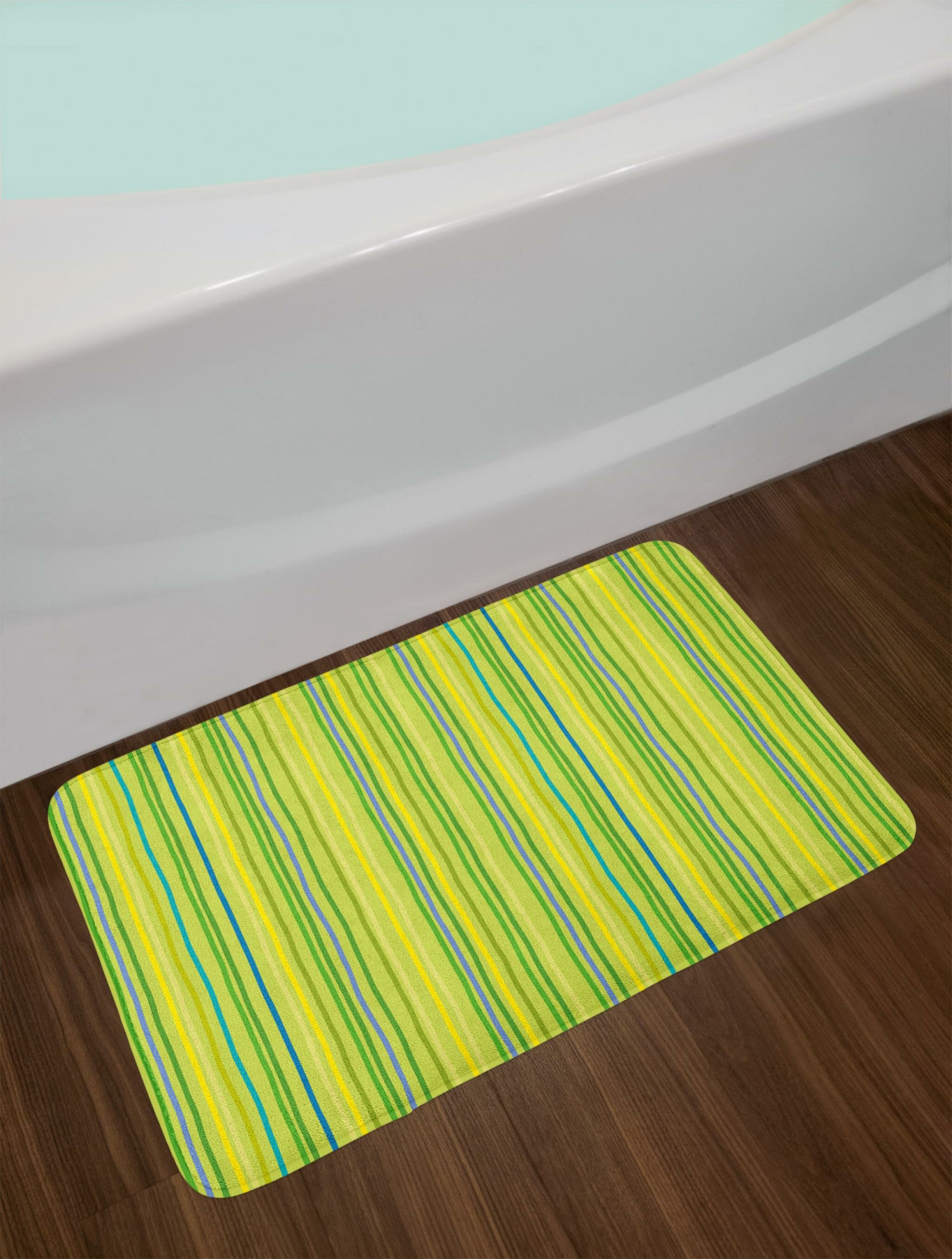 Pastel Toned Lime Green Bath Rug