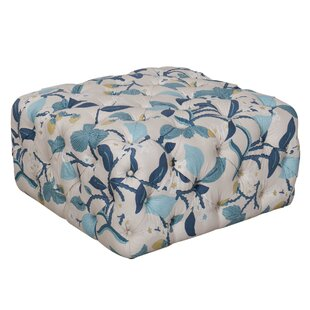Dickman Floral Tufted Ottoman by Darby Home Co
