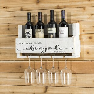 Mccandless Always Be 4 Bottle Wall Mounted Wine Rack