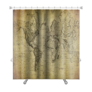Earth Vintage Map of the World 1814 Premium Single Shower Curtain