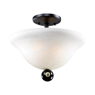 Weehawken 2-Light Semi-Flush Mount by Winston Porter