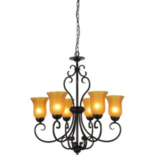 CWI Lighting Dulce 6-Light Shaded Chandelier