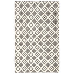 Blount Trellis Handwoven Flatweave Ivory/Black Indoor/Outdoor Area Rug