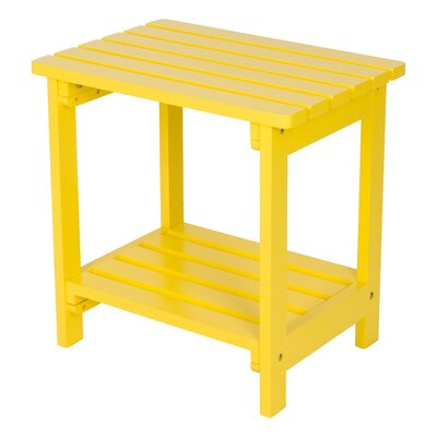 Arcel Wood Side Table Color: Lemon Yellow by Beachcrest Home