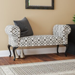 Charlton Home Deford Cabriole Legs Upholstered Bench