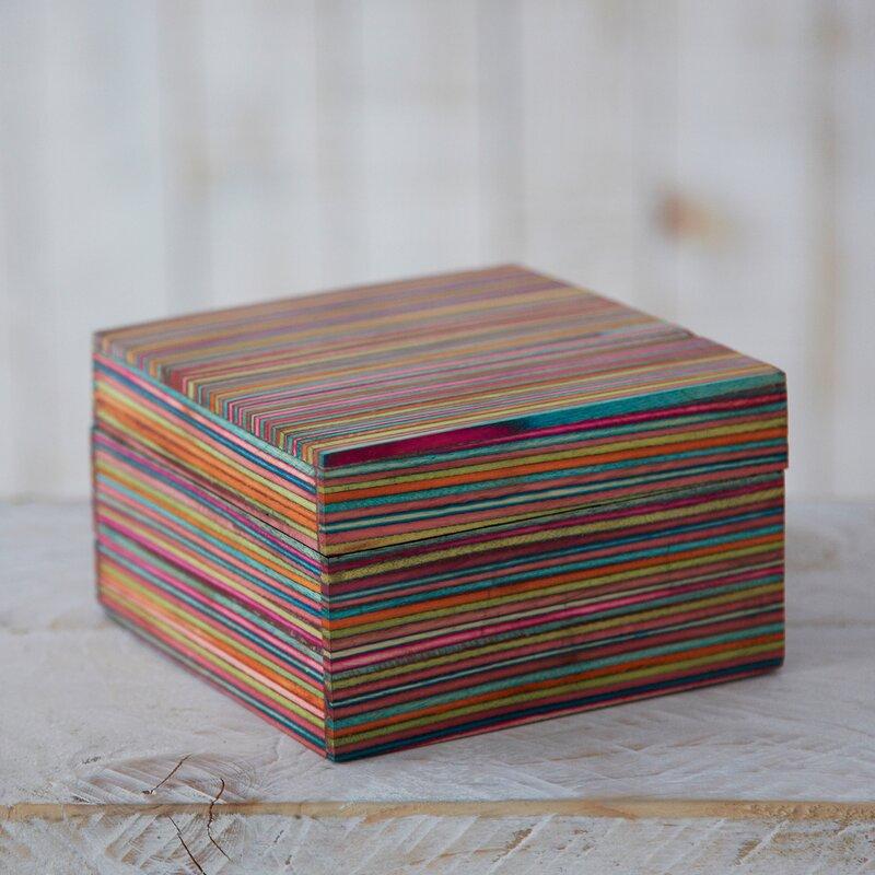 Latitude Vive Fair Trade Dhari Handmade Striped Jewelry Box Wayfair Co Uk