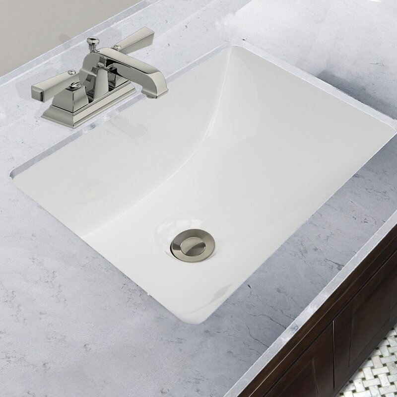 Nantucket Sinks Great Point Ceramic Rectangular Undermount Bathroom ...