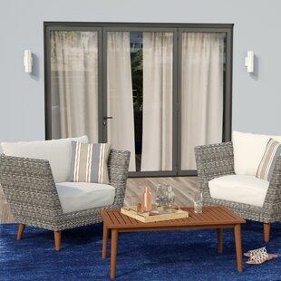 Langley Street Newbury 3 Piece Conversation Set with Cushions