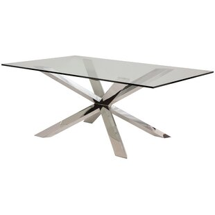 Orren Ellis Boler Glass Top Dining Table