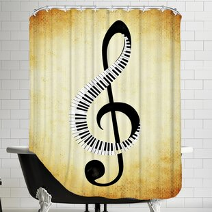 Clef Music Musically Single Shower Curtain