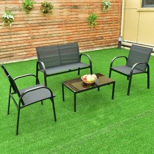 Krick Patio Garden Furniture 4 Piece Sofa Seating Group