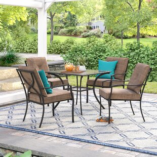 Andover Mills Keensburg 5 Piece Dining Set with Cushions