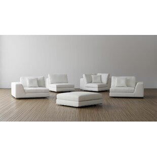 Orren Ellis Syd Left Facing Modular Sectional with Ottoman