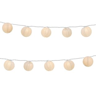 The Party Aisle Aspen Hill 7 ft. 10-Light Lantern String Lights