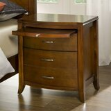 Crediton Wooden 3 Drawer Nightstand by Winston Porter