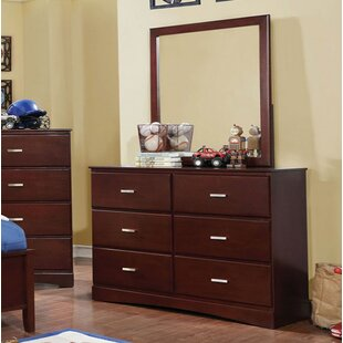 Segars 6 Drawer Double Dresser with Mirror by Harriet Bee