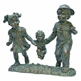 Swing Time Children Garden Statue By Design Toscano