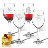 Shell 4-Piece 12 oz. Plastic All Purpose Wine Glass Set by Carved Solutions