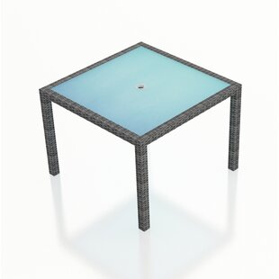 Hobbs Glass Dining Table by Rosecliff Heights