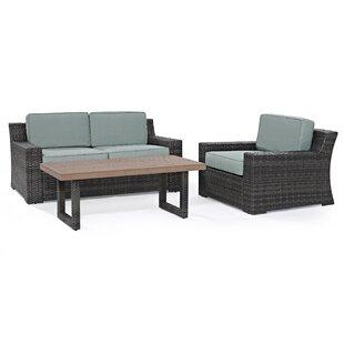 Linwood 3 Piece Sofa Set with Cushions