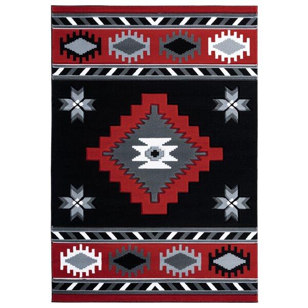 Millwood Pines Sheridan Southwestern Red Black Gray Area Rug Reviews Wayfair