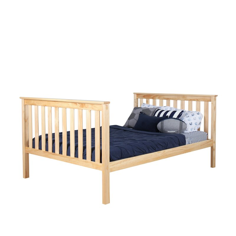 Solid Wood Bunk Bed With Trundle