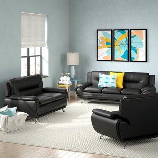 Zipcode Design Lester 3 Piece Living Room Set