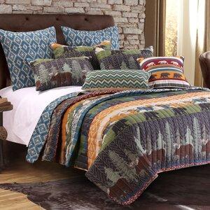 Black Bear Lodge Reversible Quilt Set