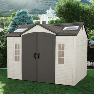 Side Entry 10 ft. W x 8 ft. D Plastic Storage Shed