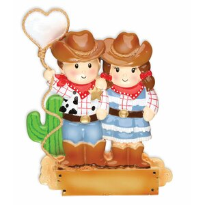 Family Series Cowboy Family Shaped Ornament