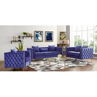 Price comparison Magnuson 3 Piece Living Room Set by House of Hampton Reviews (2019) & Buyer's Guide