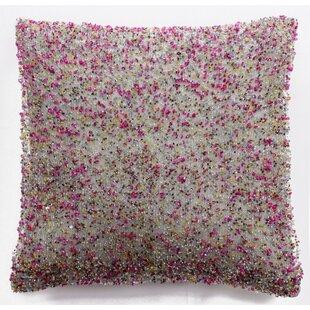 Bordeaux Heavy Beaded Silk Throw Pillow