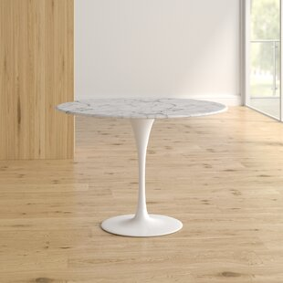 Ryanne Marble Dining Table Orren Ellis