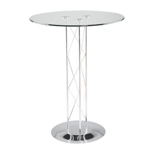 Orren Ellis Berlanga Glam Dining Table with Glass Top