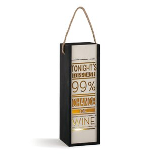 Tonight's Forecast Wine Lantern Carrier
