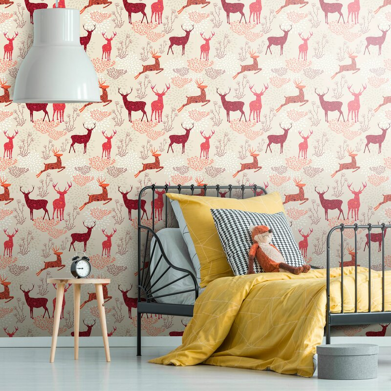 Loon Peak Ted Nature Themed Removable Peel And Stick Wallpaper Panel Wayfair