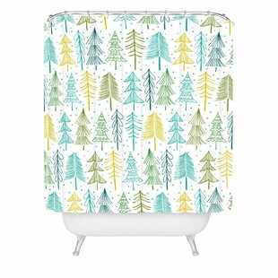 East Urban Home Heather Dutton oh Christmas Tree Frost Shower Curtain
