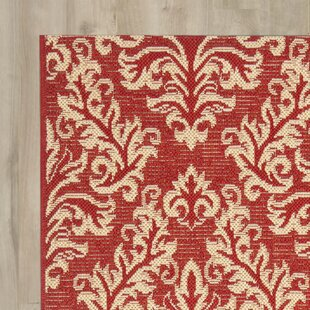 Larson Red/Creme Indoor/Outdoor Area Rug