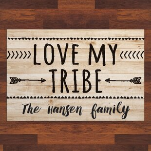 Labarge Love My Tribe Personalized 27 In. X 18 In. Non-Slip Outdoor Door Mat By Wrought Studio